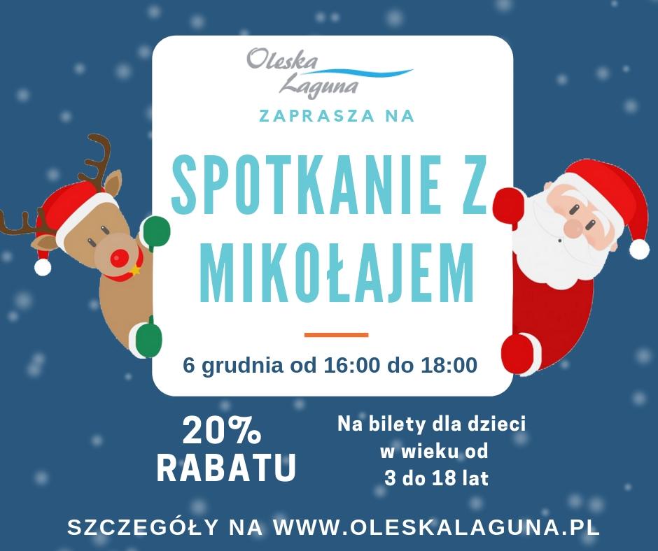 Oleska Laguna zaprasza na spotkanie z Mikołajem
